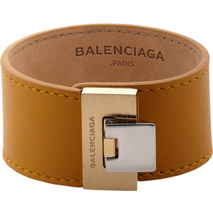 Leather and medal, yes yes yes! The latest Balenciaga cuff in this smooth camel color with mixed metal clasp is a great everyday piece and a nice price point for Balenciaga I must say. Also gorgeous in grey.